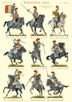 Military Art, Military History, Bataille De Waterloo, French Pictures, Waterloo 1815, Paper Toy, British Soldier, French Army, Vintage Paper Dolls