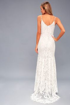 0108fbb5bad Flynn White Lace Maxi Dress Lulus Wedding Dress