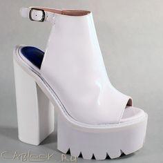 Jeffrey Campbell Barclay white стильные сабо женские купить в интернет-магазине CabLOOK.ru