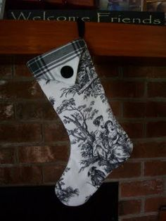 Toile christmas stocking, I am desperately trying to find toile fabric!!!!!