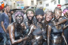 11 Festivals From Around The World That Are As Messy As Holi: Cascamorras Every year the residents of Baza, in Granada, Spain; paint themselves head to toe in black paint and defend their beloved statue of the Virgin Mary from a resident (the Cascamorra) of the neighbouring town of Guadix who is intent on stealing it. Sounds like a lot of very messy fun.#fun #enjoy #adventure #travel #story #friends #advenjo #iloveadvenjo