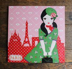 """Parisienne"" original painting (via Etsy)"