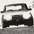 The Saab 900 Turbo was James Bond's vehicle of choice in three John Gardner Bond novels of the 1980s, starting with License Renewed (1981), which was published to great critical acclaim. In the book the car is silver colored, even though it is sometimes black or red on some of the bookcovers.