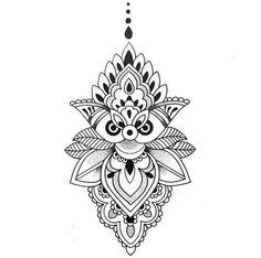 ▷▷ Diseños de mandalas 【PARA DESCARGAR】 Tattoo Sketches, Tattoo Drawings, Body Art Tattoos, New Tattoos, Girl Tattoos, Sleeve Tattoos, Maori Tattoos, Lotus Mandala, Mandala Dots
