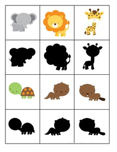 shadow forest animals « Preschool and Homeschool Animal Activities, Montessori Activities, Preschool Worksheets, Infant Activities, Preschool Activities, File Folder Activities, Kids Education, Art Education Lessons, Zoo Animals