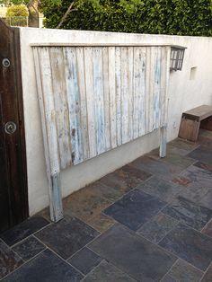 Reclaimed By Mark - pallet wood headboard