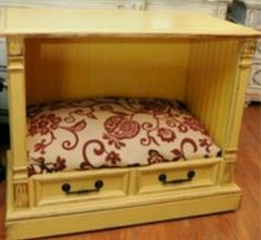 Diy dog bed could double top as a fish tank holder.hmmm AN IMAGE ONLY.OLD TV.- Diy dog bed could double top as a fish tank holder…hmmm AN. Pet Furniture, Repurposed Furniture, Furniture Makeover, Furniture Stores, Do It Yourself Furniture, My Bebe, Diy Dog Bed, Old Cabinets, Old Tv