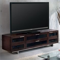 Avion II Quad-Wide Cabinet TV Stand in Espresso Stained Oak - 8929 ES