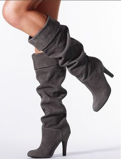 Cute Boots! I love gray b/c it's such a versitile neutral & is less severe than black.