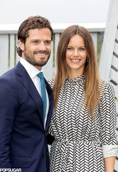 Princess Sofia of Sweden and Prince Carl Philip of Sweden (Duke and Duchess of Värmland) on the 2nd day of the 2 day visit to Varmland on August 27, 2015