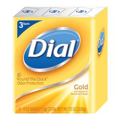 """This is the bar that built the Dial company. After more than 60 years, Dial® """"Round the Clock"""" Odor Protection Gold, with its rich gold color and bracing scent, is the bar you can trust for deodorant protection and long-lasting clean. Learn more at www.dialsoap.com  #movethedial"""