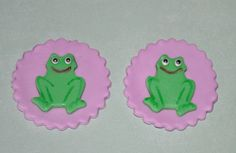 Frog Fondant Toppers for Cupcakes Cake and by iamladycupcake, $13.95