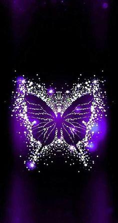 Purple Butterfly Wallpaper, Flowery Wallpaper, Heart Wallpaper, Butterfly Art, Cellphone Wallpaper, Galaxy Wallpaper, Wallpaper Backgrounds, The Purple, All Things Purple