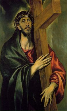 This exact picture of el Greco is of Jesus carrying the cross to be crucified. The Spanish people are very religious.
