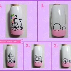 No hay descripción de la foto disponible. Nail Art Hacks, Gel Nail Art, Nail Art Diy, Nail Manicure, My Nails, Nail Drawing, Animal Nail Art, Nail Art Techniques, Nail Art For Beginners
