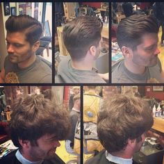 Massive before & after action here by 👌😏 Cut And Style, Style Me, Before And After Haircut, East London, Moustache, Barber Shop, Mens Fashion, Style Fashion, Rockabilly