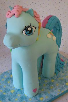 My little pony blue fondant cake.