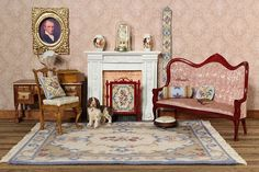 It's January Sale time for mini stitching kits for doll'shouses - all these needlepoint items can be made from kits