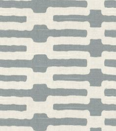 Home Decor Fabric-Annie Selke Links Slate, You're cool.  Are you too cool for me?