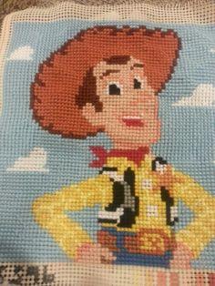 toys story cross stitch cushion oyuncak hikayesi si etamin yastık