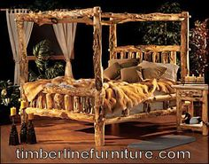 Log Canopy Beds | Rustic Dressers | Rustic Nightstands