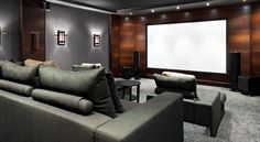 Design your home theater with the right lighting.