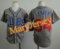 """$23.88 at """"MaryJersey""""(maryjerseyelway@gmail.com) Cubs 34 Jon Lester Grey Alternate Road Cool Base Stitched Youth Baseball Jersey"""