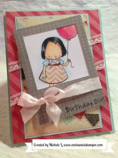 Super cute birthday card using template #MFTWSC107