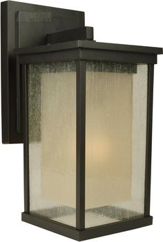 Budget conscience outdoor sconce; many sizes and styles avail. within this family.