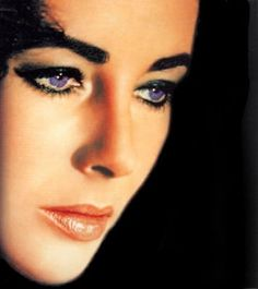 Elizabeth Taylor, a rare photo where you can really see her Amazing Violet Eyes.