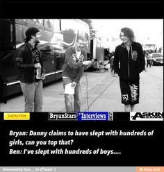 Asking alexandria Ben Bruce Danny worsnop warped tour Bryan stars