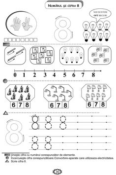 Preschool Writing, Numbers Preschool, Math Numbers, Kindergarten Activities, Educational Activities, Kids Math Worksheets, Simple Math, Lesson Plan Templates, Math For Kids