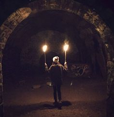 Through the tunnels. - Night Tour In The Paris Catacombs Best of Web Shrine Old Hospital, Messy Nessy Chic, The Catacombs, Air Raid, France Photos, Most Haunted, Group Travel, Ghost Stories, 14th Century