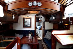 Restored Sailboat Cabin Interior | Nav Station | Forecabin | Saloon | Galley | Heads