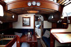 Restored Sailboat Cabin Interior | Nav Station | Forecabin | Saloon | Galley | Heads