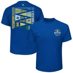 Seattle Mariners Majestic Wave the Pennant T-Shirt - Royal