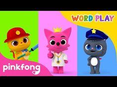 Jobs | Word Play | Pinkfong Songs for Children - YouTube Phonics Song, Groundhog Day, Word Play, Kids Songs, Nursery Rhymes, Bedtime, Cool Words, Fairy Tales, Preschool