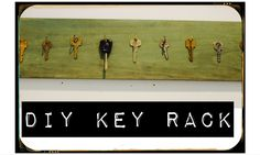 DIY Key Rack...using