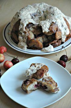 Fresh Cherry Monkey Bread