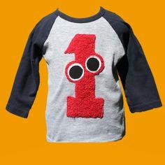 1st birthday monster T-shirt