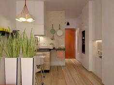 Кухня в цветах: белый, бежевый. Кухня в стиле минимализм.