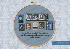 Mini Artitsts Galleries - Pablo Piacasso cross stitch pattern