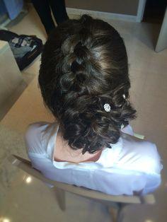 Dutch braid with knot   wedding updo  vlecht & lage knot   trouwkapsel