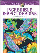 Incredible Insect Designs Adult Coloring Book Stress Relief Creative Doodle Art