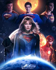 Crisis On Infinite Earths Poster, Diiego designer Mundo Superman, Supergirl Superman, Supergirl Season, Superman Lois, Supergirl 2015, Superman Family, Superman Man Of Steel, Supergirl And Flash, Flash Characters