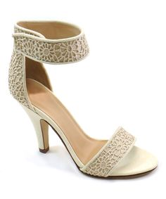 Look at this Light Taupe Unique Sandal on #zulily today!
