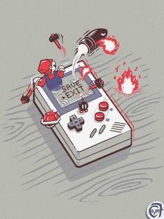 Save Exit #gameboy #mario