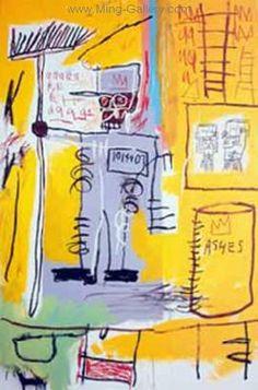 Broken art by Jean-Michel Basquiat. Jean-Michel Basquiat, the most famous and expensive black artist. Keith Haring, Jean Basquiat, Jean Michel Basquiat Art, Andy Warhol, Basquiat Paintings, Brooklyn, Robert Rauschenberg, Art Brut, Arte Horror