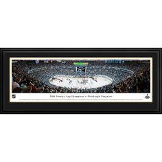 Worldwide Blakeway Panoramas 2016 NHL Stanley Cup Champions Pittsburgh Penguins Framed NHL Print