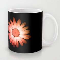 Two blooms Mug by Pirmin Nohr - $15.00 Colored blooms of the same flower   Nature, blooming, flora, pink, orange